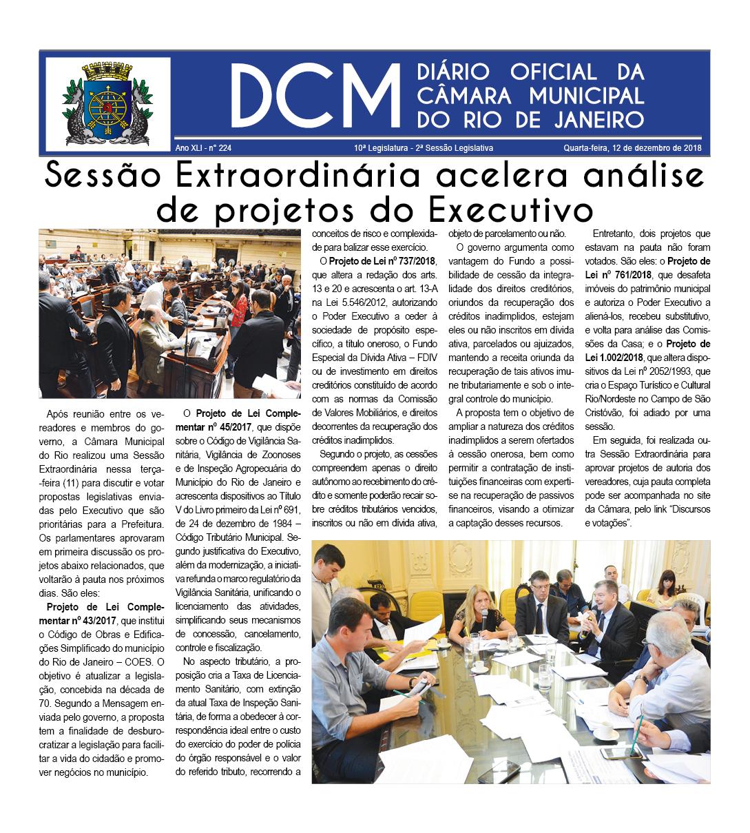 Diario da Camara Municipal