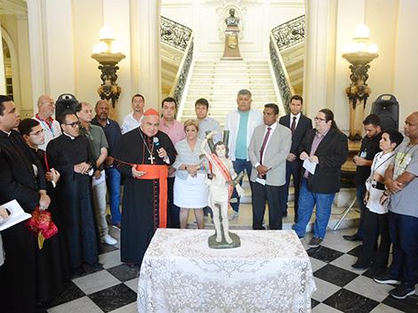 Trezena de São Sebastião, padroeiro do Rio, faz peregrinação no parlamento carioca