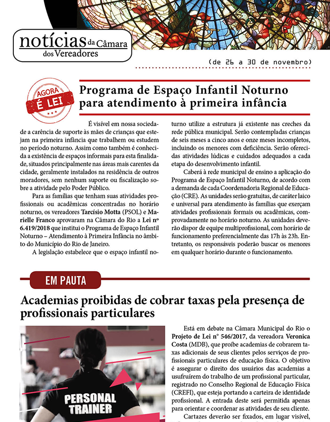 Newsletter da Câmara Municipal