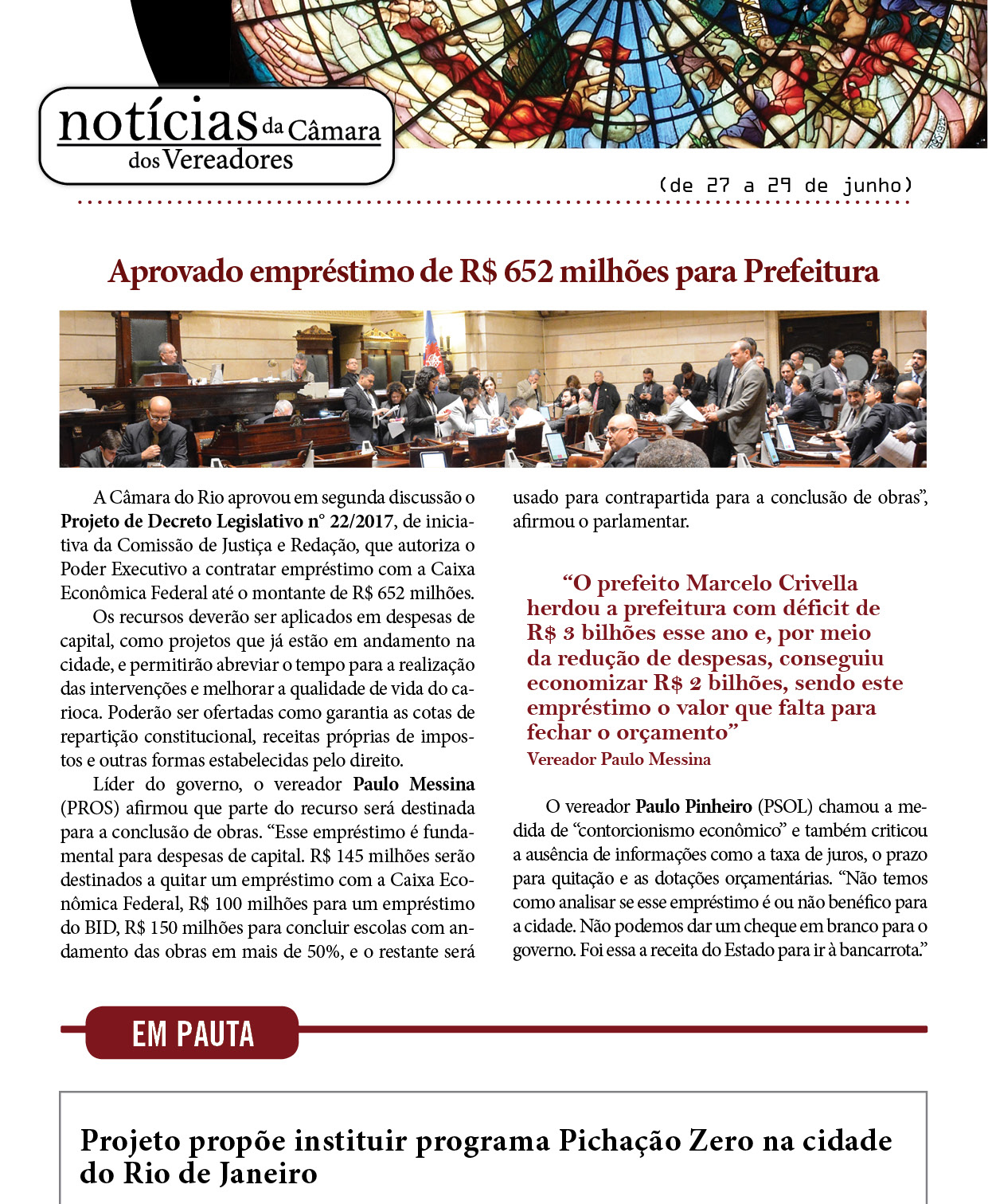 Newsletter da Camara Municipal